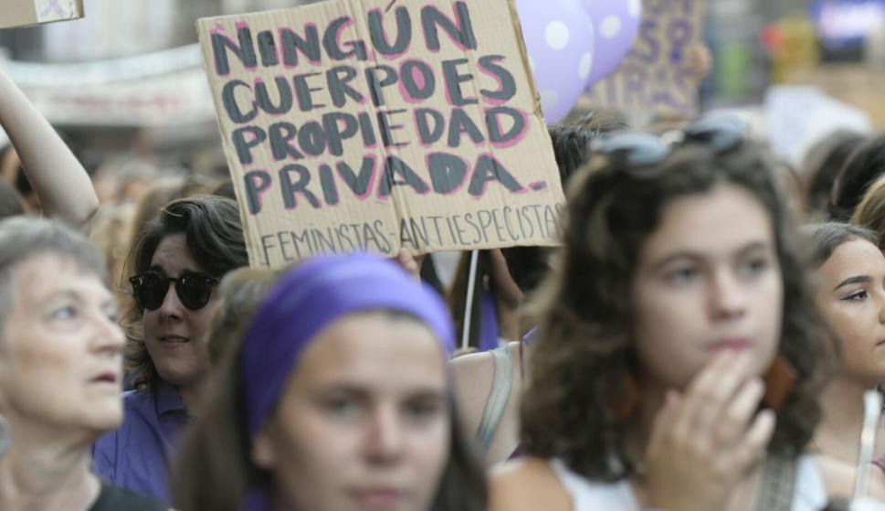 Marcha por el Día de la Mujer. Foto: Marcelo Bonjour