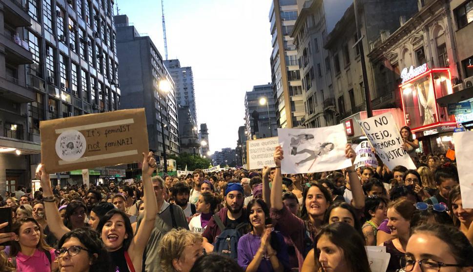 Marcha del Día de la Mujer. Foto: Mariana Malek