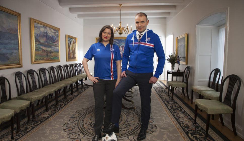 Presidente y primera dama de Islandia