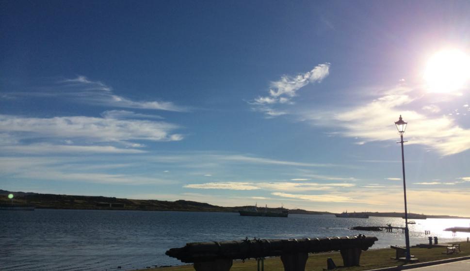 Vista de Stanley, la capital de la isla. Foto: Mathias Da Silva