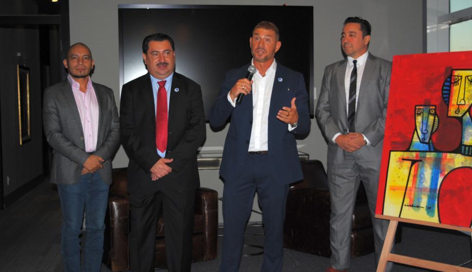 Elmer Ciserón, Alan Ramos, Avi Starosetski, Alvaro Padin.