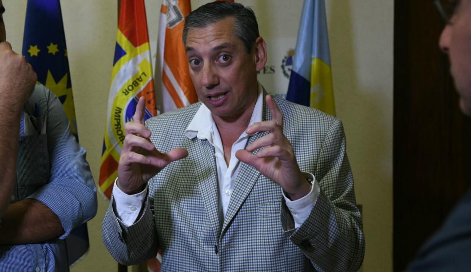 Carlos Enciso, intendente de Florida, en el Congreso de Intendentes. Foto: Ariel Colmegna.