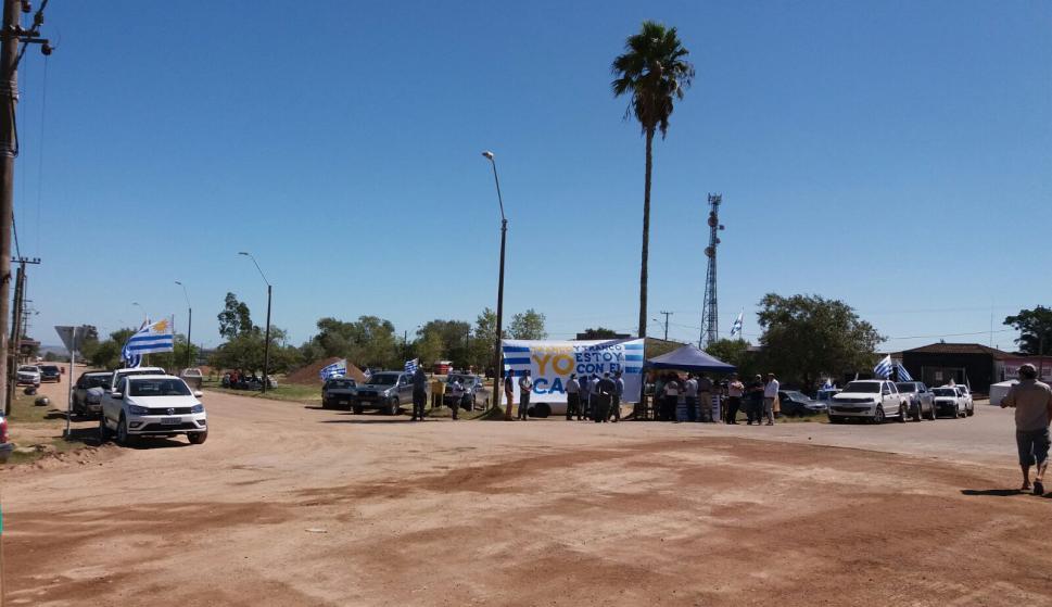 Protestas en Cerro Largo - Aceguá. Foto: Néstor Araújo