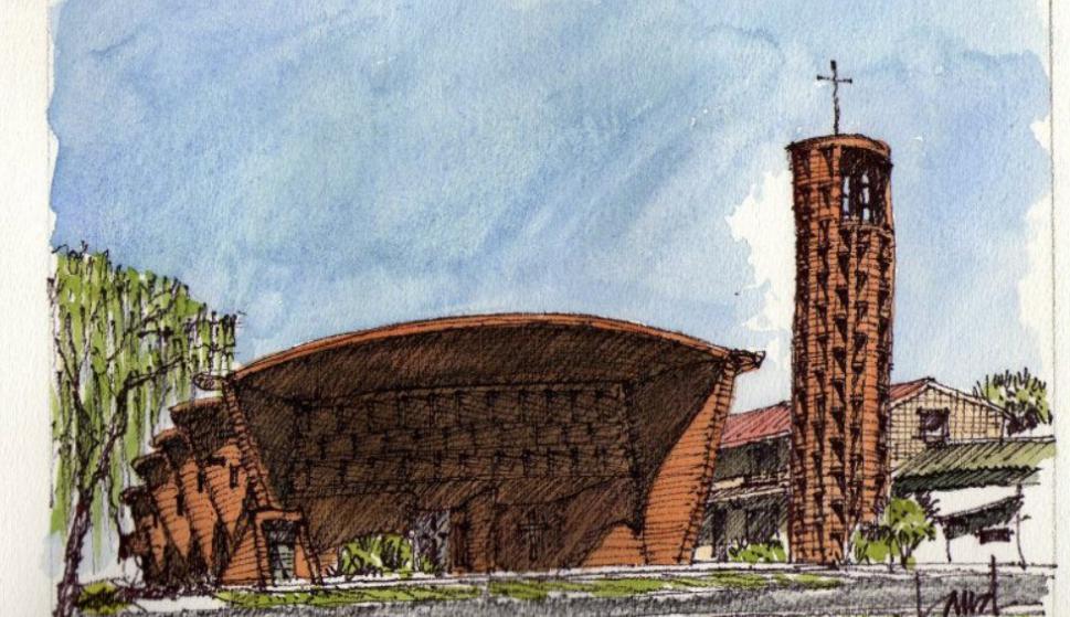 Iglesia de Atlántida Cristo Obrero y Nuestra Señora de Lourdes. (Andrés Nogués)
