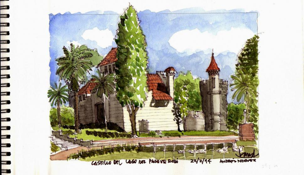 Castillo del Parque Rodó. Foto: Andrés Nogués