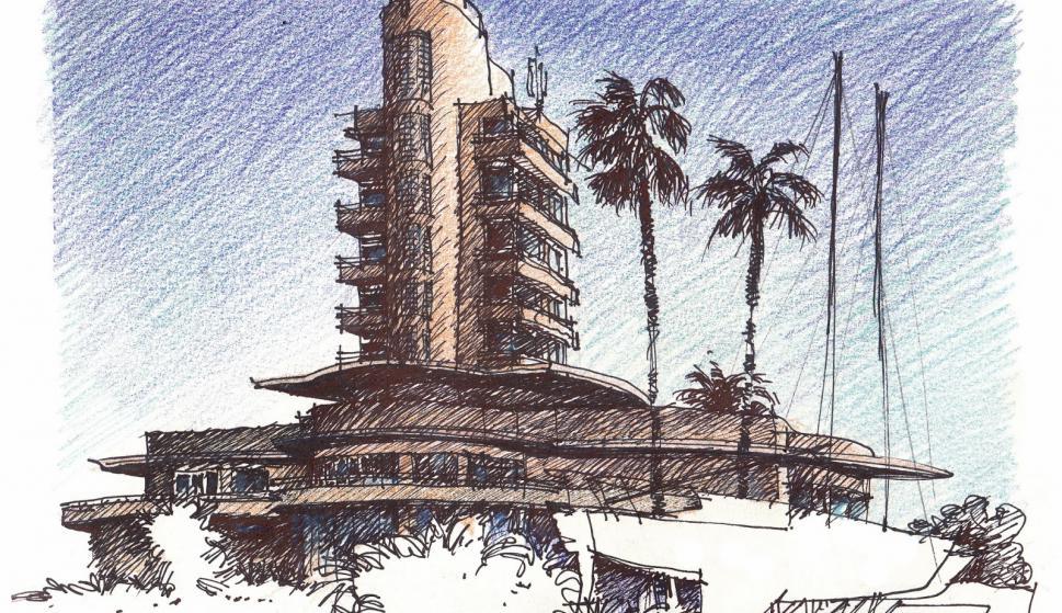 Edificio del Yacht Club. Puerto del Buceo. (Daniel Venturini)