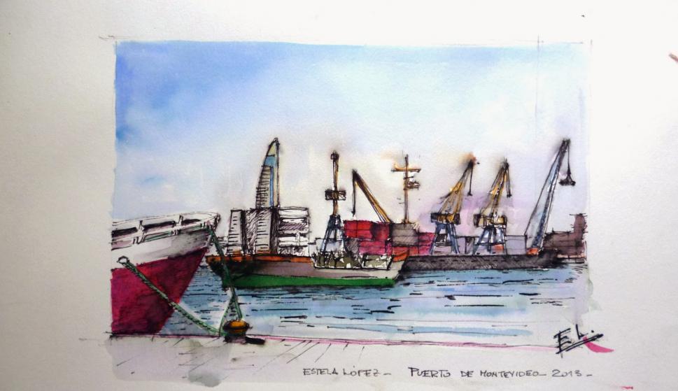 Puerto de Montevideo. (Estela López)