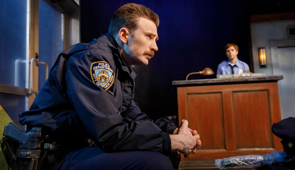 """Chris Evans en la obra """"Lobby Hero"""""""