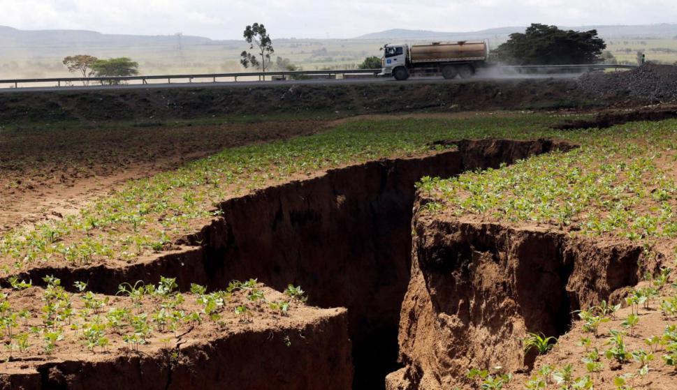 La grieta que divide Kenia en dos. Foto: Reuters