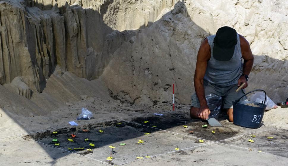 Arqueología: las huellas de pobladores son prehispánicas. Foto: R. Figueredo