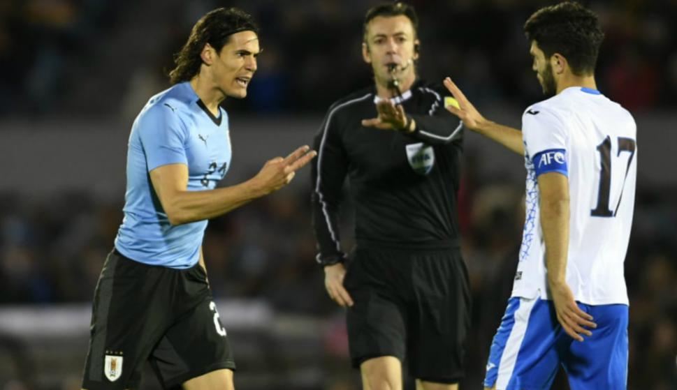 Uruguay vs. Uzbekistán. Edinson Cavani. Foto: Gerardo Pérez
