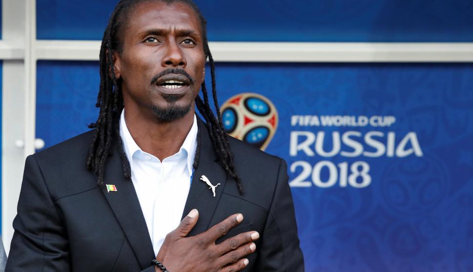 Aliou Cisse, DT de Senegal. Foto: Reuters