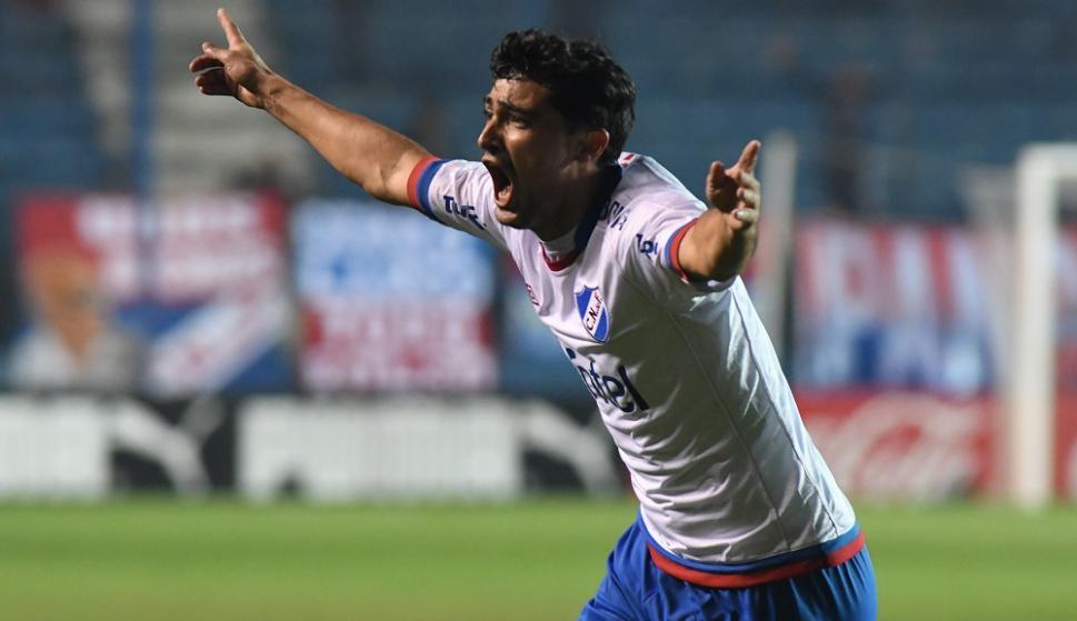 """Gonzalo """"Chory"""" Castro festejando el gol de Nacional. Foto: Francisco Flores"""