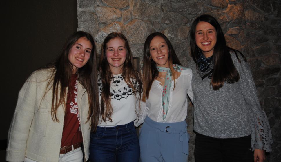 Agustina y Lorena Guardia, Pía Brogioli, Martina Giordano.