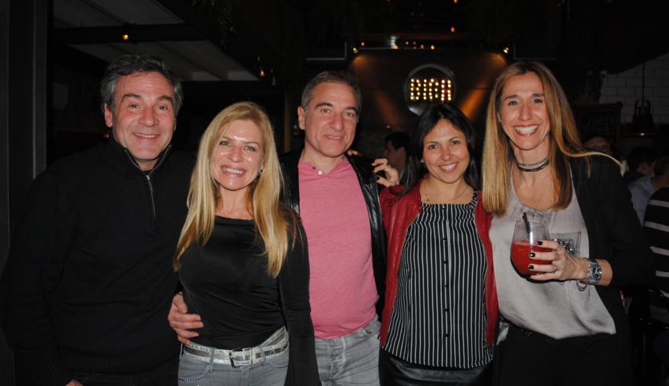Carlos Grau, Isabel y Gerardo Medrano, Estela Mederos, Mariana Medina.