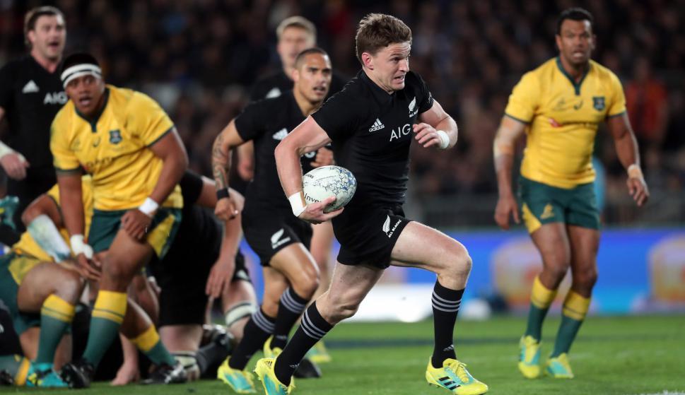 Nueva Zelanda le ganó a Australia en el Rugby Championship. Foto: AFP.