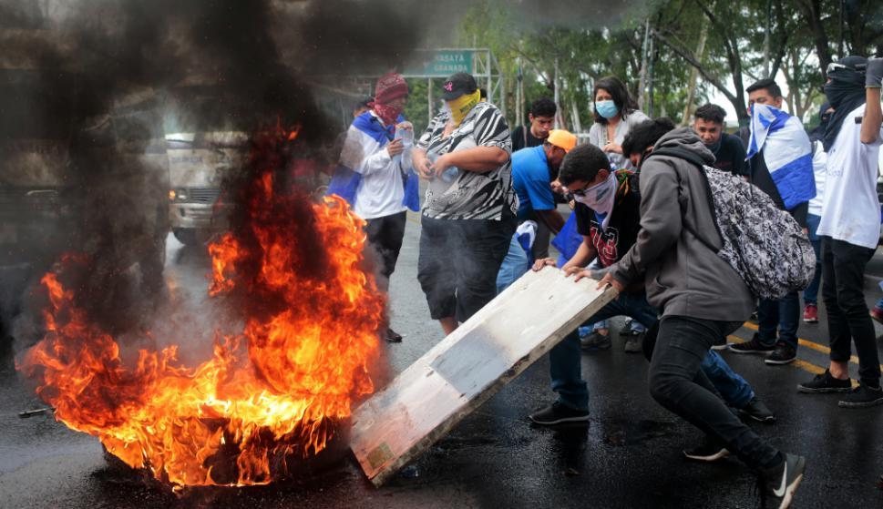 Protestas: las calles de Managua, la capital de Nicaragua, son escenario de movilizaciones en contra del gobierno de Daniel Ortega. Foto: Reuters