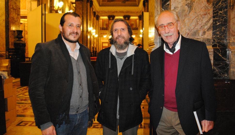 Federico Méndez, Gustavo Serra, Hugo Achugar.