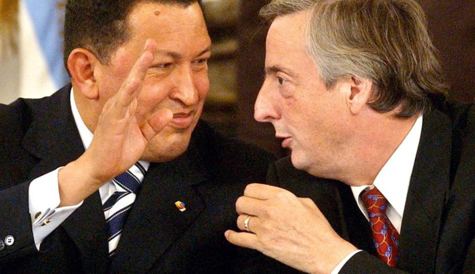Hugo Chávez y Néstor Kirchner. Foto: Archivo El País