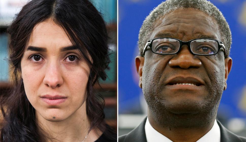 Nadia Murad y Denis Mukwege ganadores del premio Nobel de la Paz. Foto: Reuters