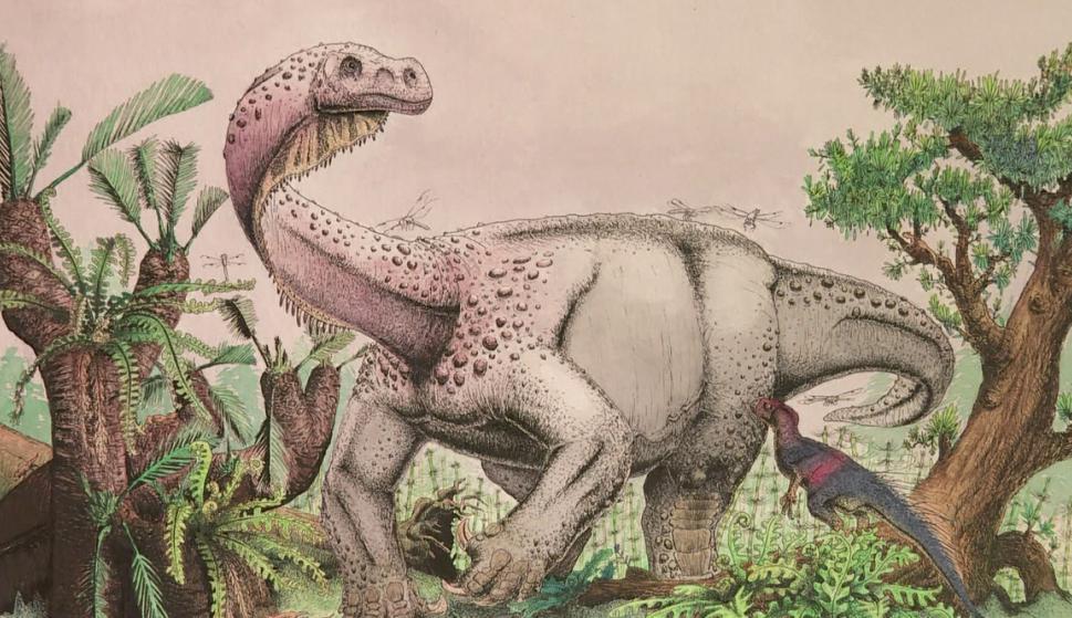 Nueva especie de dinosaurio descubierta en Sudáfrica. Foto: AFP