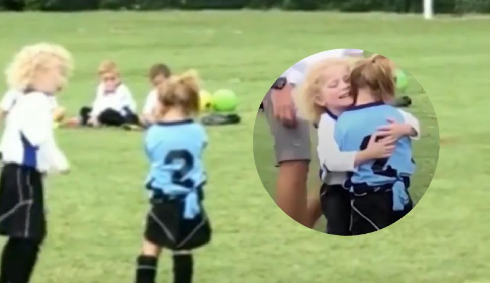 Una lección de deportividad de dos niñas