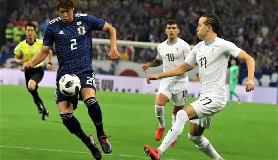 Uruguay y Japón en el amistoso internacional en Saitama. Foto: @Uruguay.