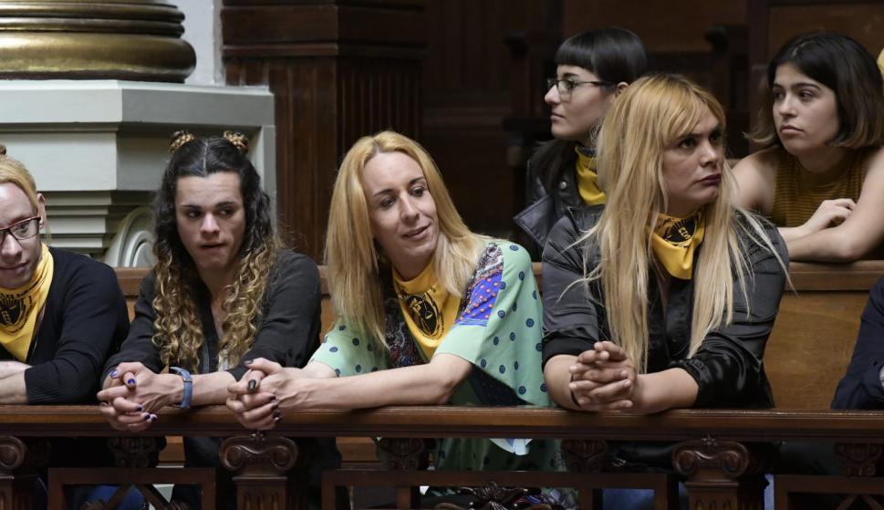 Votación de la ley trans en el Senado. Foto: Leo Mainé