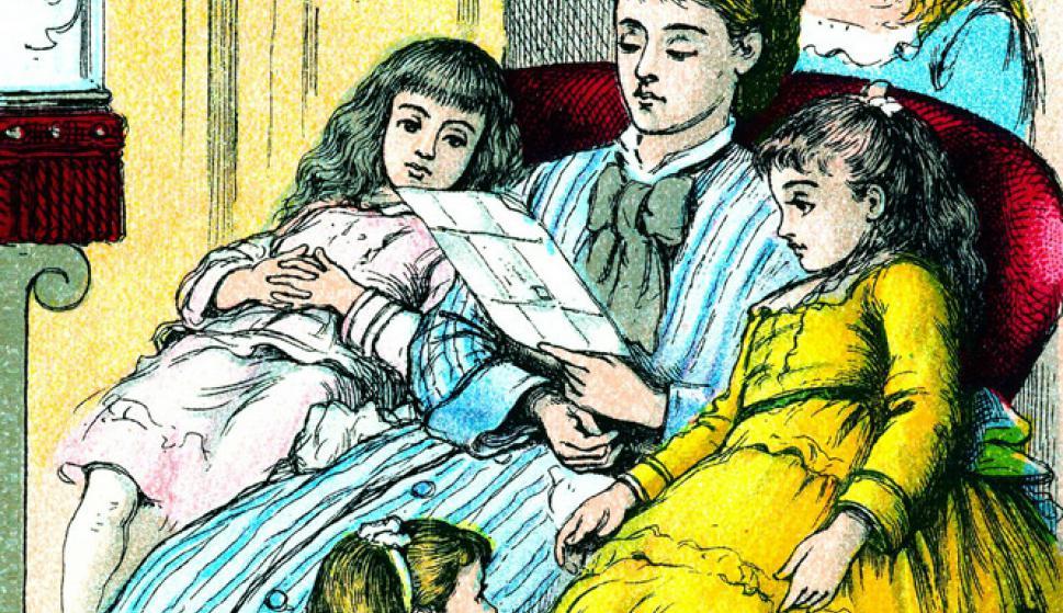 Portada de la edición de Mujercitas, de Louisa May Alcott, de Good Tone Library, de 1880 (del libro 1001 libros infantiles que hay que leer antes de crecer, de Julia Eccleshare, Grijalbo).