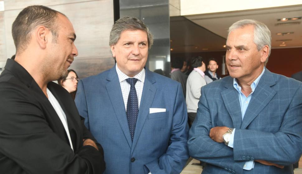 Álvaro Recoba, Pablo Durán y José Fuentes. Foto: Francisco Flores.