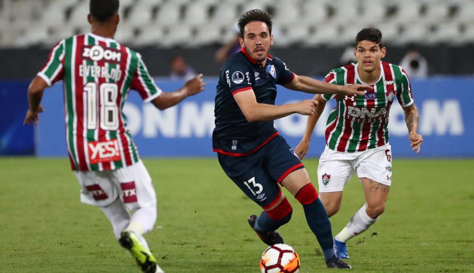 Nacional y Fluminense. Foto: AFP.