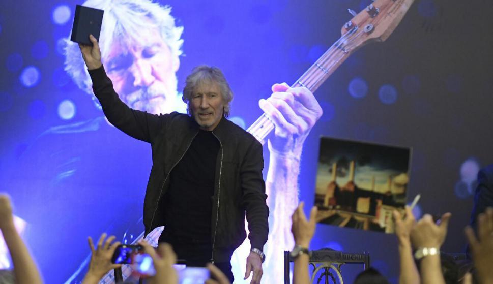 Roger Waters en la Intendencia de Montevideo. Foto: Leonardo Mainé