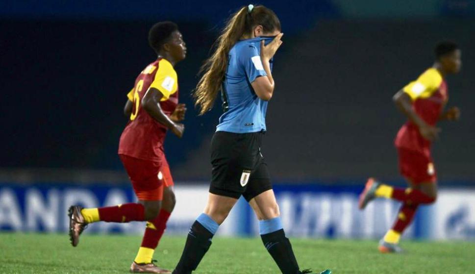 Uruguay vs. Ghana en el Charrúa. Foto: Gerardo Pérez