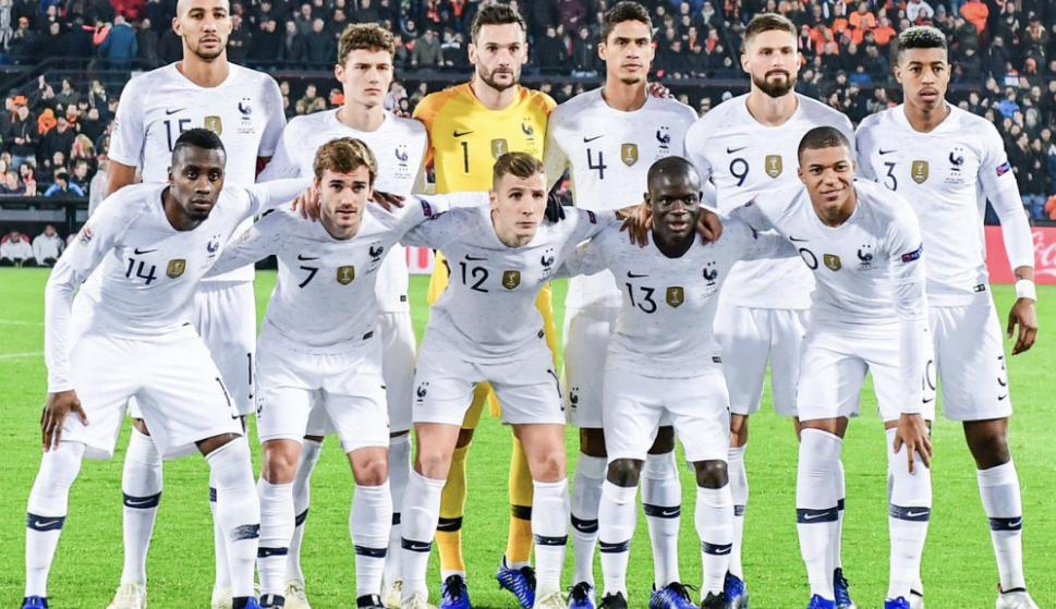 La Selección de Francia que perdió ante Holanda