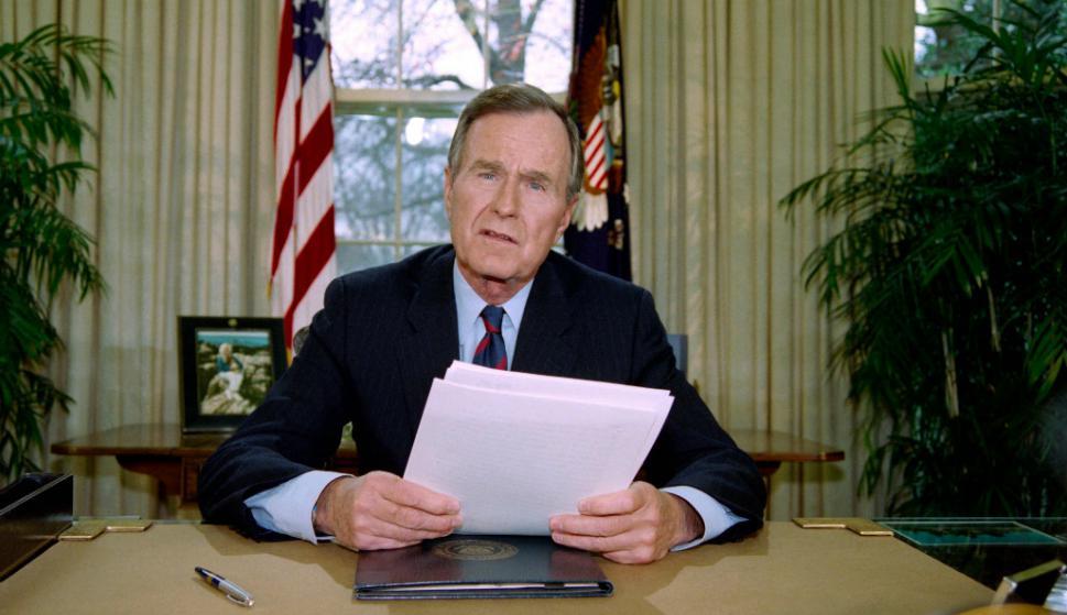 Murió a los 94 años, George Bush. Foto: AFP