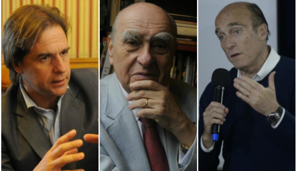 Lacalle Pou, Sanguinetti y Martínez lideran las internas de sus partidos