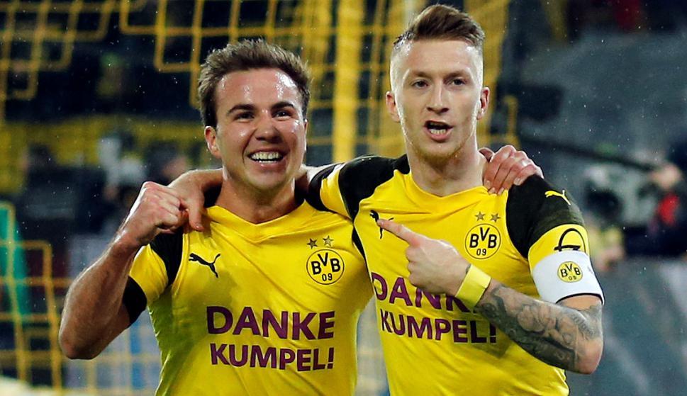 Dortmund le ganó a uno de los escoltas y se aleja en la cima