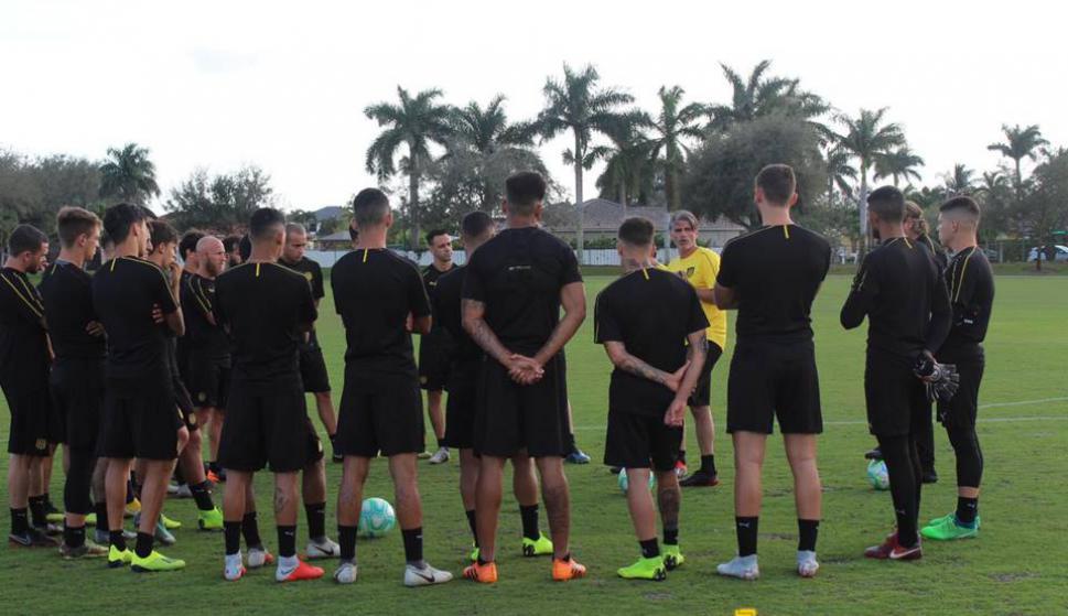 Entrenamiento de Peñarol en Miami