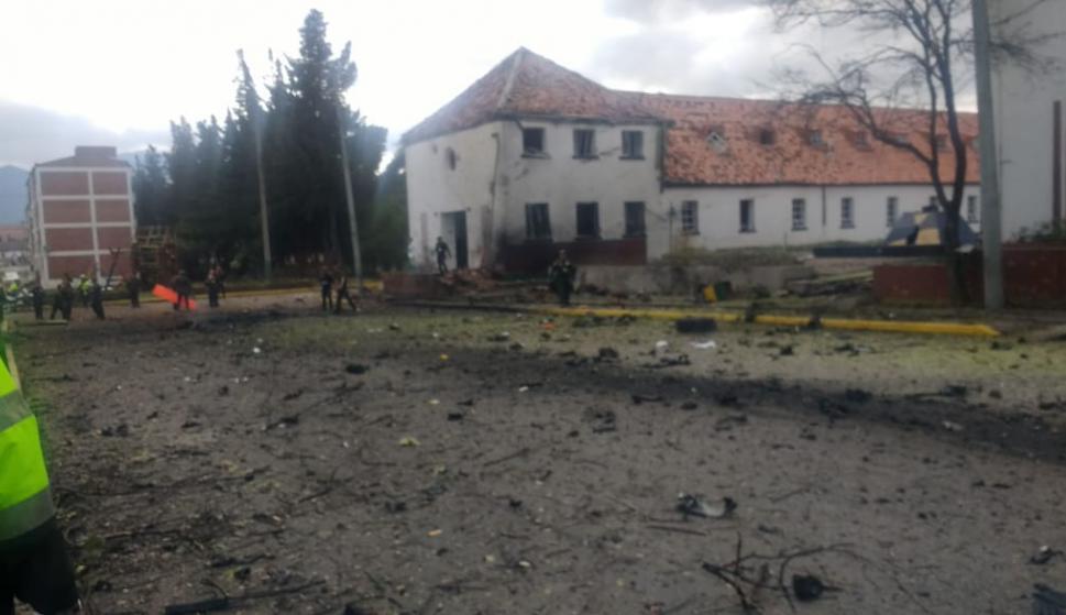 Explosión en Bogotá. Foto: Twitter @brianjurado