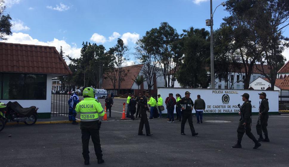 Explosión en Bogotá. Foto: Twitter @Bogota