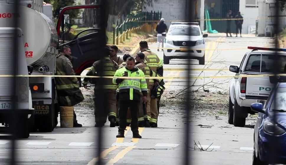 Explosión en Bogotá. Foto:EFE