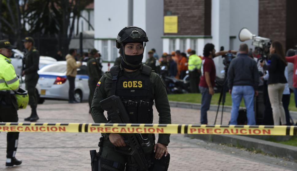 Explosión en Bogotá. Foto: AFP