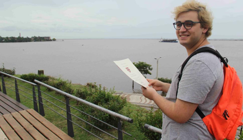 Joaquín Cortacans, el uruguayo de 18 años que ya ostenta un currículum envidiable. Foto: Daniel Rojas