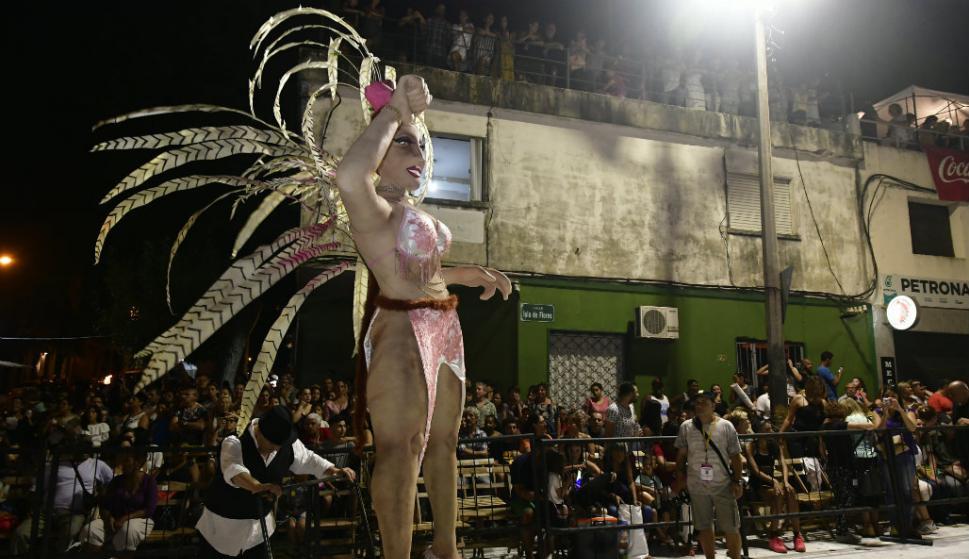 Cuareim 1080 abrió el Desfile de Llamadas del viernes. Foto: Fernando Ponzetto