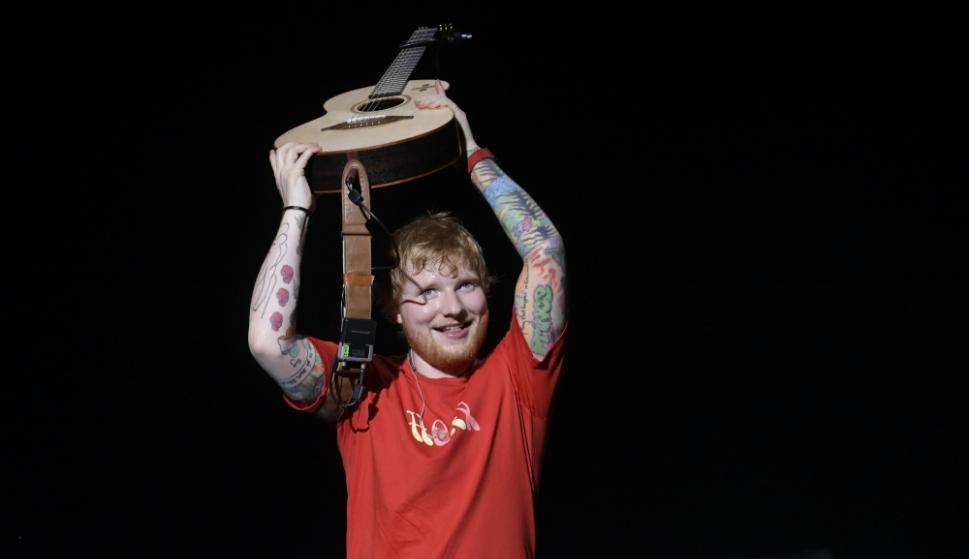 Ed Sheeran en Uruguay. Foto: Nicolás Pereyra