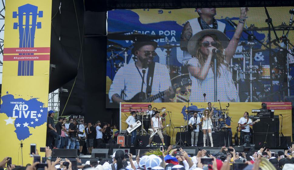 Concierto en Cúcuta este viernes. Foto: AFP