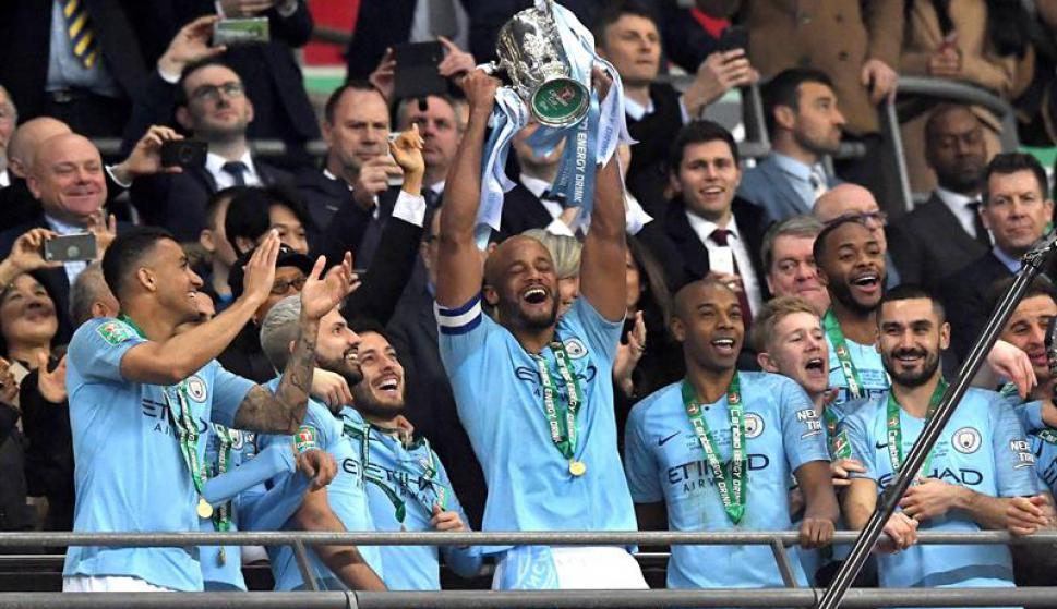 Manchester City campeón de la Copa de la Liga. Foto: EFE