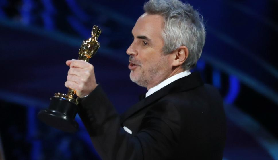 Alfonso Cuarón en los Oscar. Foto: Reuters