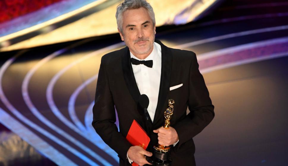 Alfonso Cuarón en los Oscar. Foto: AFP