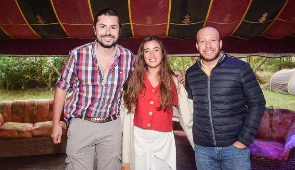 Santiago Echavalete, Catherine Vergnes, Enzo Machado.